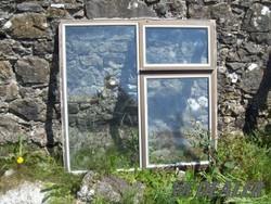 aluminium window,brown