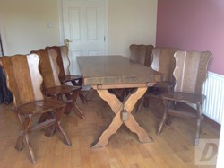 Dutch Oak Table and 6 Chairs