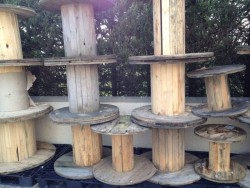 Wooden Cabel Reel, Garden Table, Upcycling, Picnic Chairs