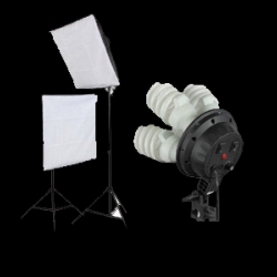 360W Two Continuous Soft Box Light Kit 4