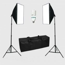 300W Photo Studio Softbox Continuous Light Kit