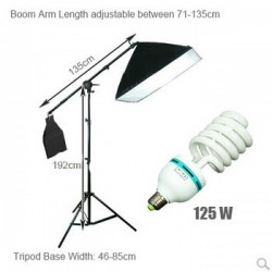125W Soft Box Boom Arm