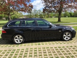 2009 BMW 520D SE TOURING BLACK  LEATHER,  FACE-LIFT MODEL (swap boat, tractor etc.)