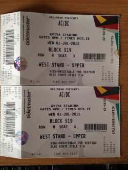 AC/DC Tickets (2) for sale
