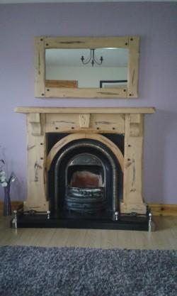 Fireplace & Matching Mirror