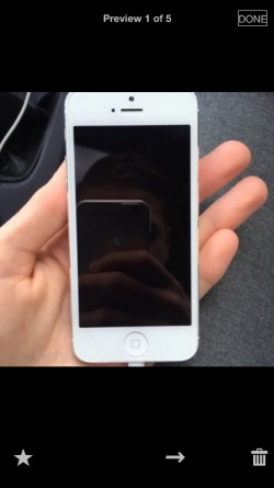 White iPhone 5 factory unlocked!!  for sale