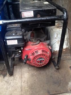 Honda 6.5 industrial generator 110v  for sale