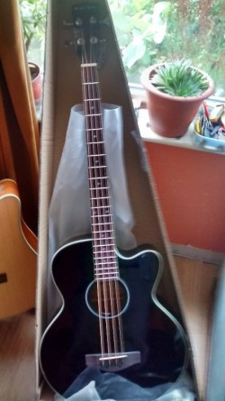 New Electro Acoustic Bass Guitar, Black
