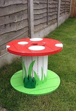 Upcycled Cable Reel Kids Craft table for sale