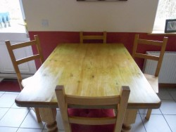 Antique Pine Dining Table and 4 Chairs  for sale