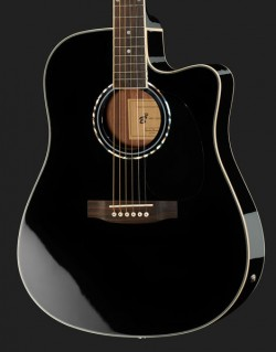 NEW ELECTRO/ACOUSTIC GUITAR BLACK CUTAWAY