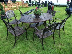 6 Seater Oval Table with Chairs