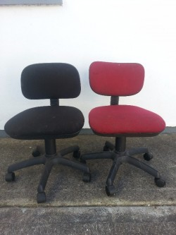 2 computer desk chairs