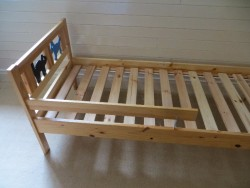 Toddler Bed with Guard Rail - Ikea Kritter Bed