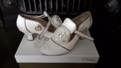 Perfect Vintage Ivory Wedding Shoes