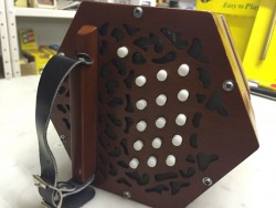 Used Wooden end 30 button Anglo C/G Concertina for Irish Trad.