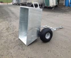 Tipping quad trailer, Fully galvanised