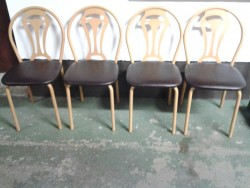 Four metal framed chair's in great condition