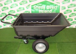 Poly Trailer - Tipping Barrow with Ride on mower attchment