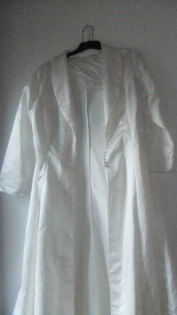 Ivory Wedding Dress and Matching Coat sz 14/sm16 Nwt Shop Soiled