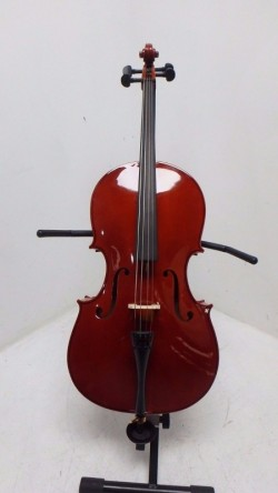 new full size cello with case + bow