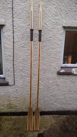 hand made spoon blade oars lamanated mahogany