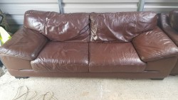 As new large 3x4 seater Italian leather couch