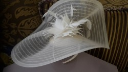 Ivory (off white) fascinator (woman)- Jasper Conran