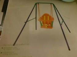 Foldable Nursery Swing (Indoor as well as Outdoor)