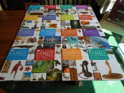 COMPLETE HARDBACK SET of 16 VOLUMES of ILLUSTRATED FAMILY ENCYCLOPEDIAS by DK in EXCELLENT CONDITION