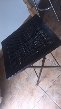 Lowl Metal table with bamboo stick centre piece