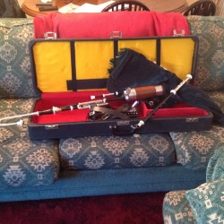 Uilleann pipes for sale half set silver plated ** last set
