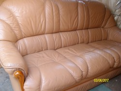 Leather Three Seater Settee