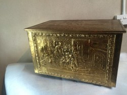 Large polished brass logbox.