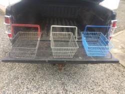 Vintage Metal shopping baskets
