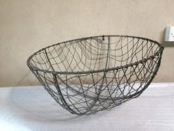 Vintage potato gathering basket