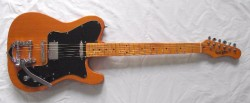 Stagg G2 Telecaster type guitar with Bigsby style tremolo.