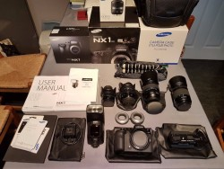 Samsung NX1 28.2MP Digital Camera - Black (complete with 4 samsung lenses
