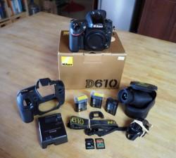 Nikon D D610 24.3MP Digital SLR Camera - Black