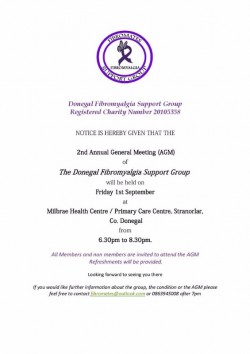 Donegal Fibromyalgia Support Group AGM