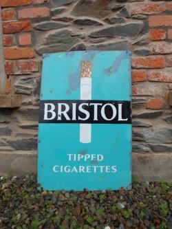 Vintage 'Bristol Cigarettes' Enamel Sign