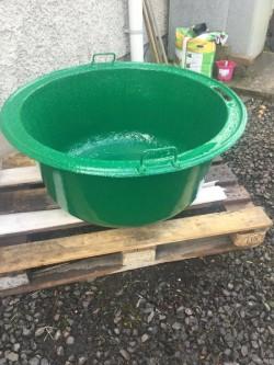 Large cast iron pot/ old livestock potato boiler