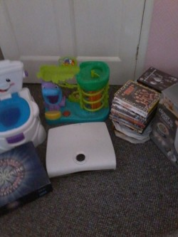 Selection of toys, dvds etc.