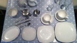selection of cafe crockery/utensils for sale
