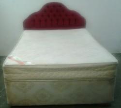 4ft 6 ins X 6ft  3ins divan bed complete