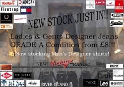 Designer jeans at Nutts corner market every sunday!! new/used ladies/kids & mens clothing!!
