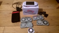 psp, 17 games + accessories