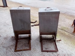 Pair of Poultry feeder