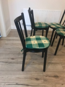 4 Black Kitchen Chairs