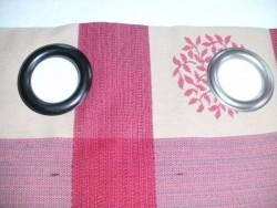 Eyelets fitted to curtains